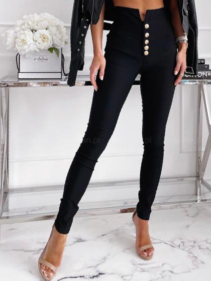 Spodnie z wysokim stanem  SOYOS black