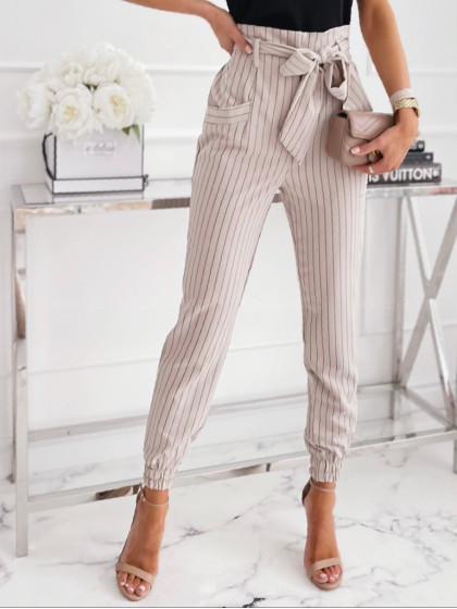 Spodnie SUMMER STRIPS beige