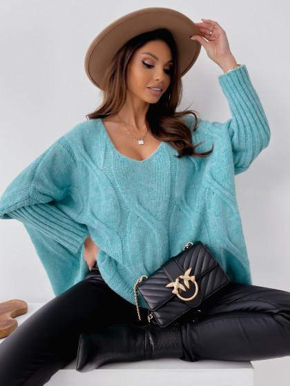 Sweter AURELIA mint
