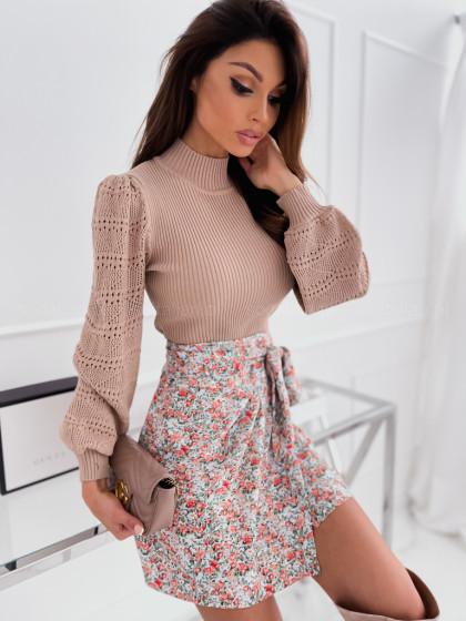 Sweter ażurowy CLAIRE beige