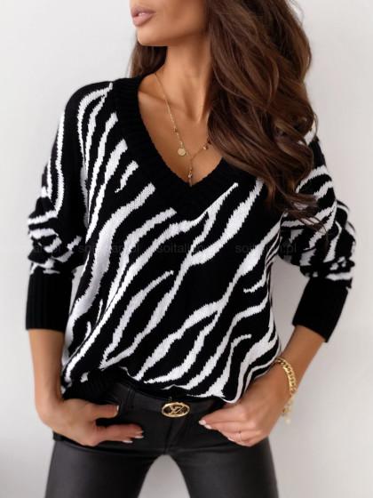 Sweter ZEBRA black&white