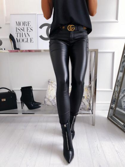 Spodnie woskowane BLACK...