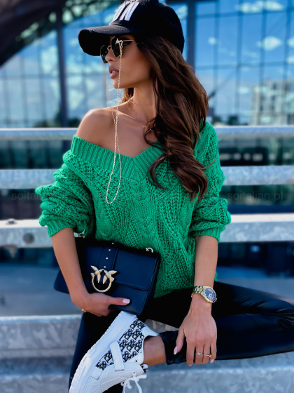 Sweter HOMELY guilty green...